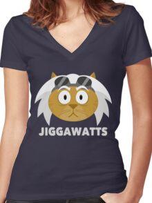 Cheshire POP! - Jiggawatts Women's Fitted V-Neck T-Shirt