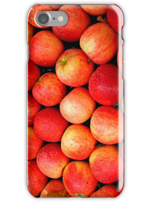 Red apples iPhone case by Esther  Moliné
