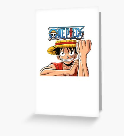 One Piece- Luffy Greeting Card