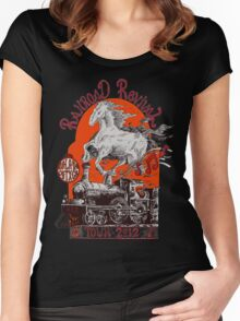 """""""Iron Horse"""" RailRoad Revival Tour 2012 T-shirt Women's Fitted Scoop T-Shirt"""