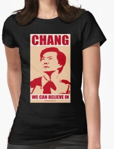 Chang We Can Believe In Womens Fitted T-Shirt
