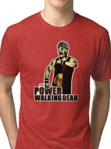 The Power Walking Dead (on White) [ iPad / iPhone / iPod Case | Tshirt | Print ] Tri-blend T-Shirt