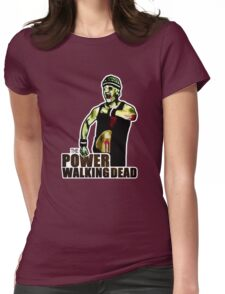 The Power Walking Dead (on White) [ iPad / iPhone / iPod Case | Tshirt | Print ] Womens Fitted T-Shirt