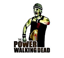 The Power Walking Dead (on White) [ iPad / iPhone / iPod Case | Tshirt | Print ] by Damienne Bingham