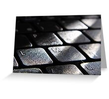 black blocks Greeting Card