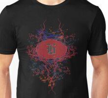 Retro Damask Pattern with Monogram Letter H Unisex T-Shirt