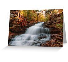 October At Onondaga Falls Greeting Card