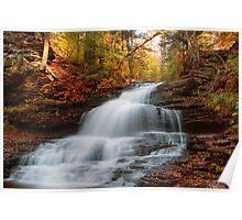 October At Onondaga Falls Poster