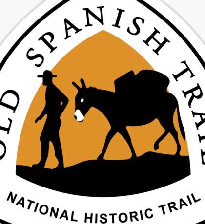 Old Spanish Trail Sign, USA Sticker