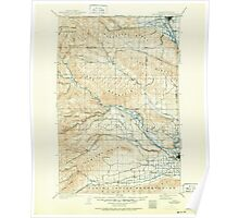 USGS Topo Map Washington State WA Ellensburg 241023 1901 125000 Poster