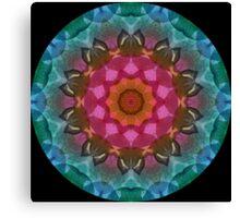 Leaves Kaleidoscope 02 Canvas Print