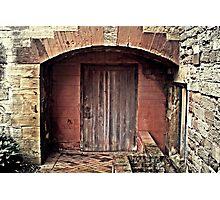 Door under the arch Photographic Print