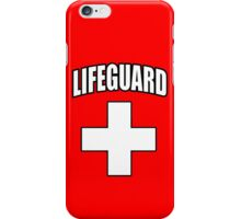 Lifeguard, Rescue, Life Saver, Swim, Swimmer, on Red iPhone Case/Skin