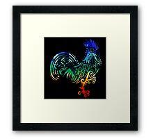 Inked Rooster Framed Print