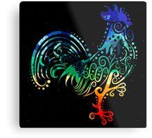 Inked Rooster Metal Print