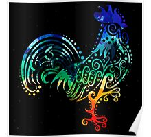 Inked Rooster Poster