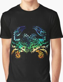Inked Crab Graphic T-Shirt