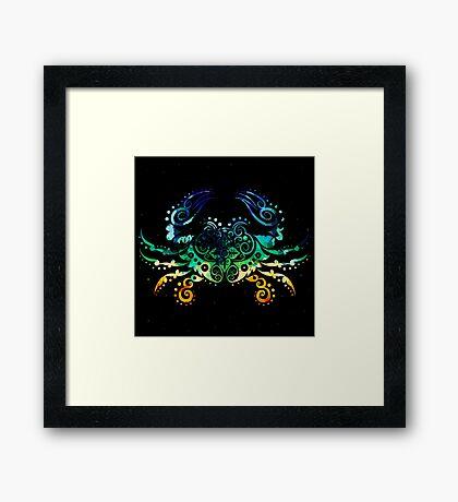 Inked Crab Framed Print