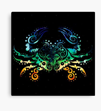 Inked Crab Canvas Print