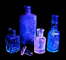 4 Blue bottles by swcphotography