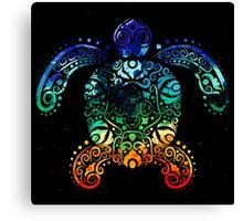 Inked Sea Turtle Canvas Print