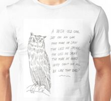 A Wise Old Owl Unisex T-Shirt