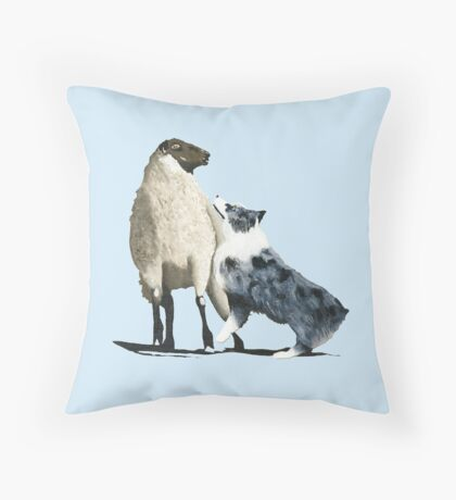 "Australian Shepherd ~ ""One Tough Sheepdog"" painting Throw Pillow"