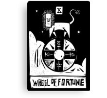 Wheel of Fortune - Tarot Cards - Major Arcana Canvas Print