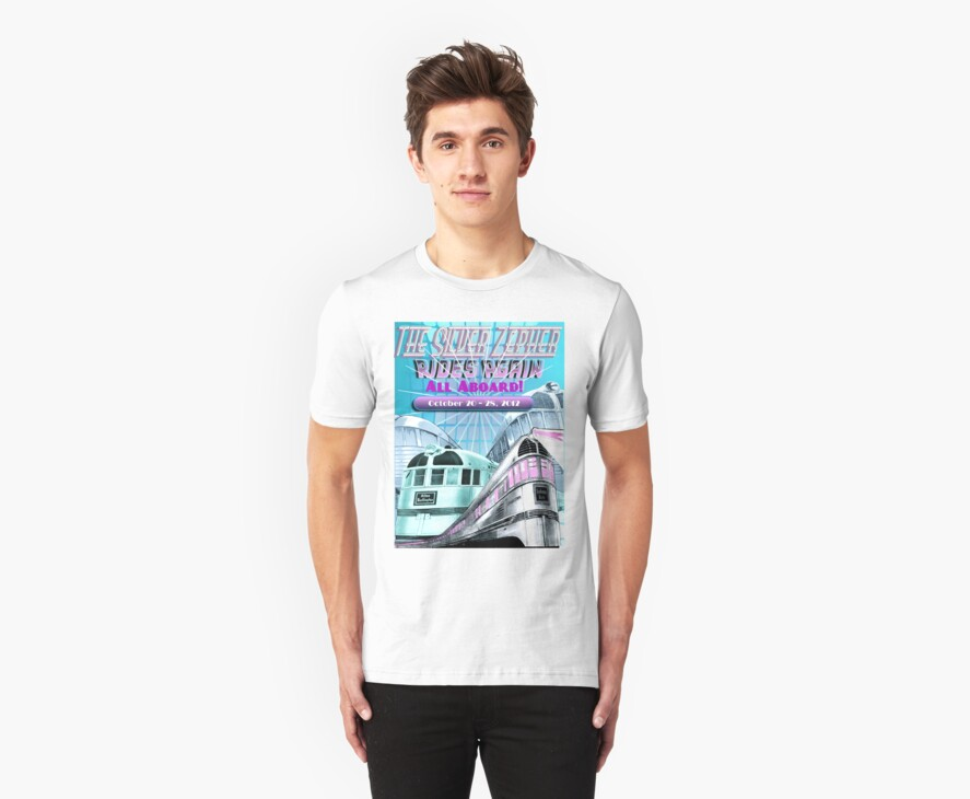 Railroad Revival Tee-shirt by Linda Jackson
