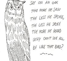 A Wise Old Owl by RavenMoody