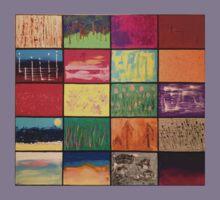 Abstract Landscape Mosaics Kids Clothes