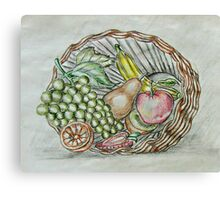 basket fruits  Canvas Print