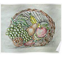basket fruits  Poster