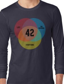 Venn Diagram: Life, the Universe & Everything Long Sleeve T-Shirt