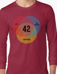 Venn Diagram: Life, the Universe & Everything Long Sleeve T-Shirt