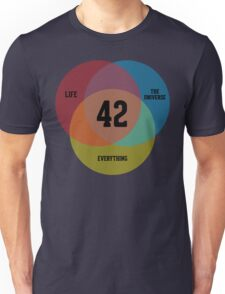 Venn Diagram: Life, the Universe & Everything Unisex T-Shirt