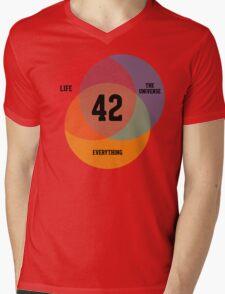 Venn Diagram: Life, the Universe & Everything Mens V-Neck T-Shirt
