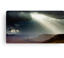 storm in mountains Canvas Print