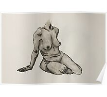 Seated Woman Figure Poster