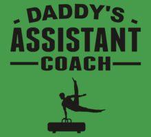 Daddy's Assistant Gymnastics Coach Baby Tee
