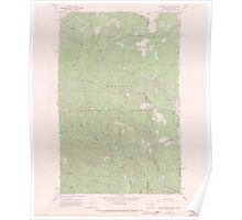 USGS Topo Map Washington State WA Gleason Mtn 241316 1967 24000 Poster