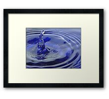 Unusual Water Splash Framed Print