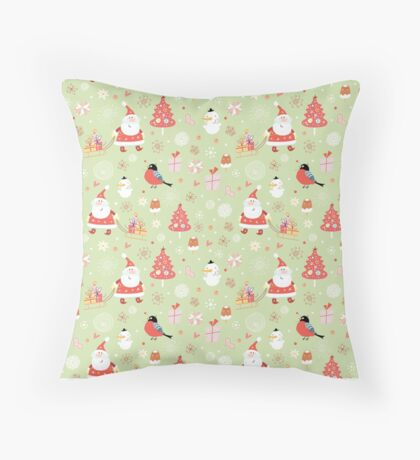 Cute Christmas Pattern Throw Pillow