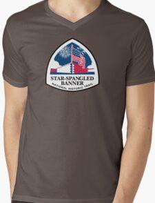 Star-Spangled Banner Trail Sign, USA Mens V-Neck T-Shirt