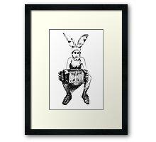 Bunny boy gummo. Framed Print