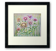 in the summer day Framed Print