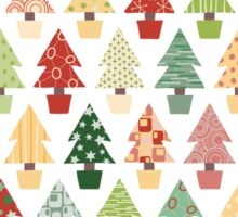 Christmas Trees Pattern Sticker