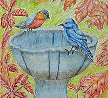 Autumn birds by thuraya arts