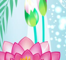 Lotus and Dragonfly Sticker