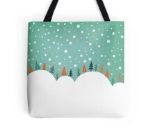 Snowy Holiday Hill Tote Bag